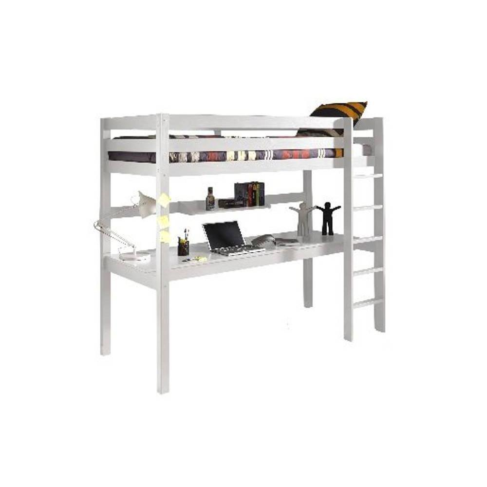 bureau pin blanc trendy bureau pin massif blanc with