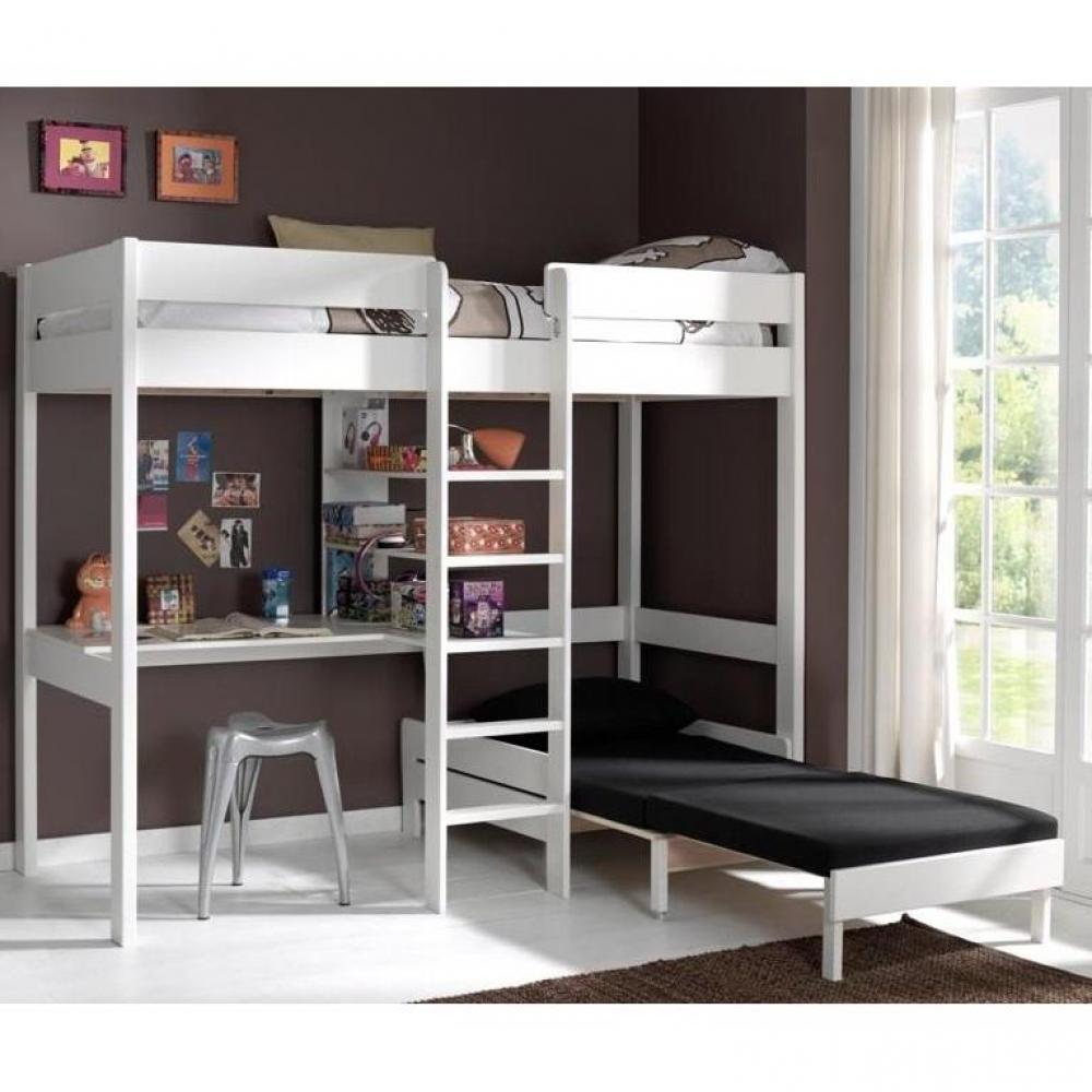 Lit Mezzanine 3 Ans lits, chambre & literie, lit mezzanine avec fauteuil pino en