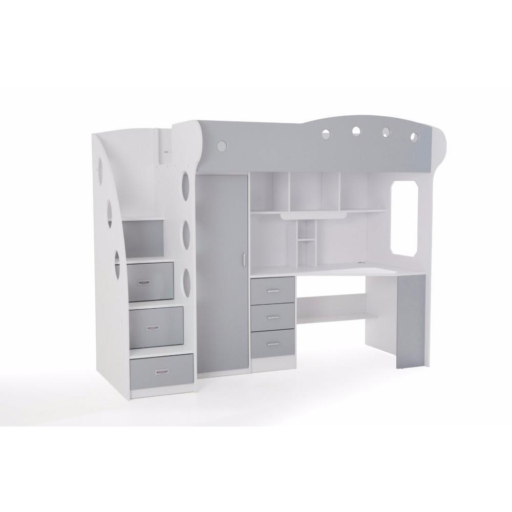lits chambre literie lit mezzanine