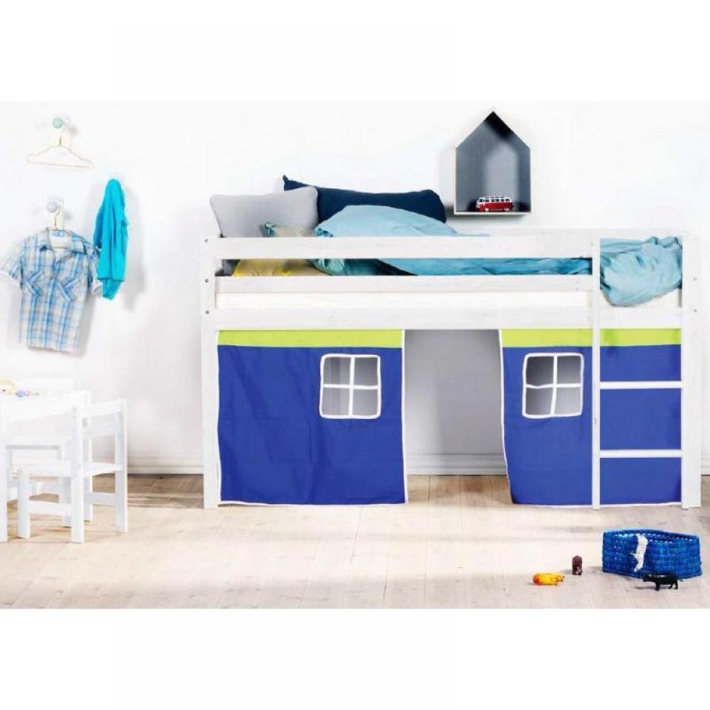 chaises meubles et rangements lit mi haut de princesse flexa en pin vernis blanchi couchage 90. Black Bedroom Furniture Sets. Home Design Ideas