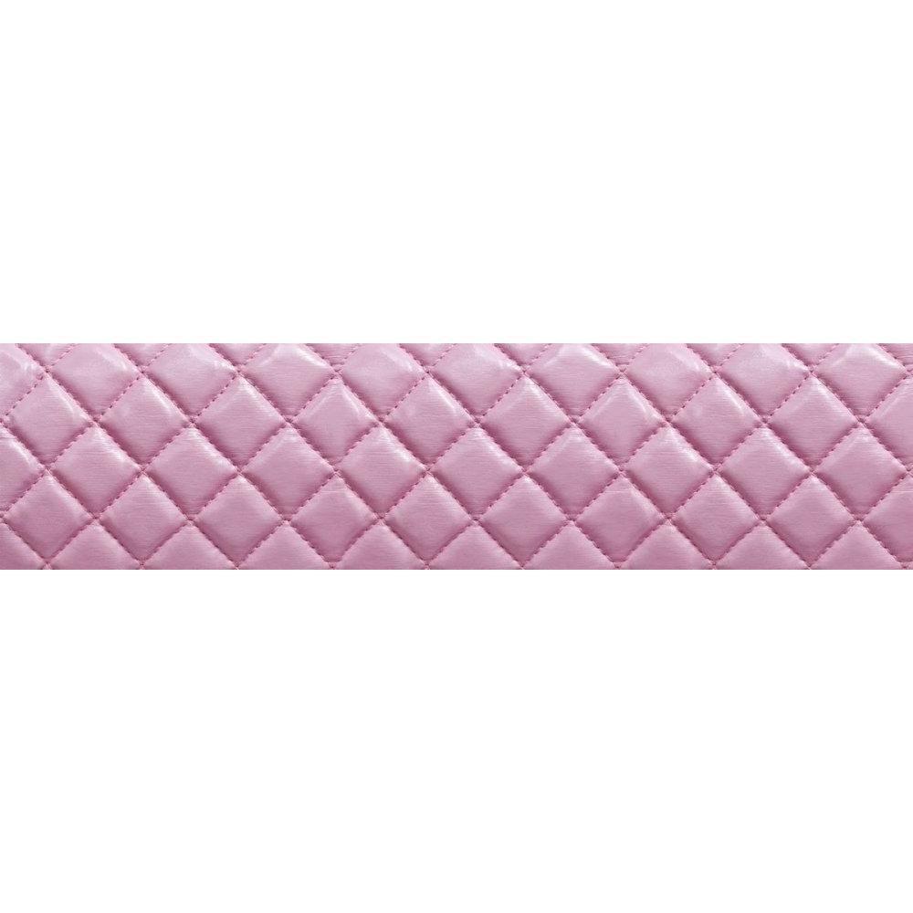 Lit O ROCK BED avec tête de lit imprimée matelassé rose