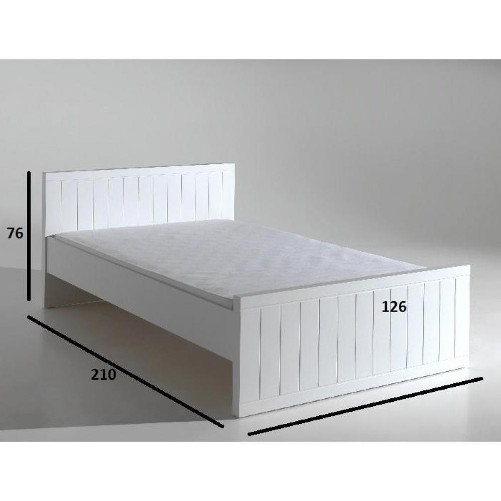 lits chambre literie lit robin design blanc 120 cm inside75. Black Bedroom Furniture Sets. Home Design Ideas