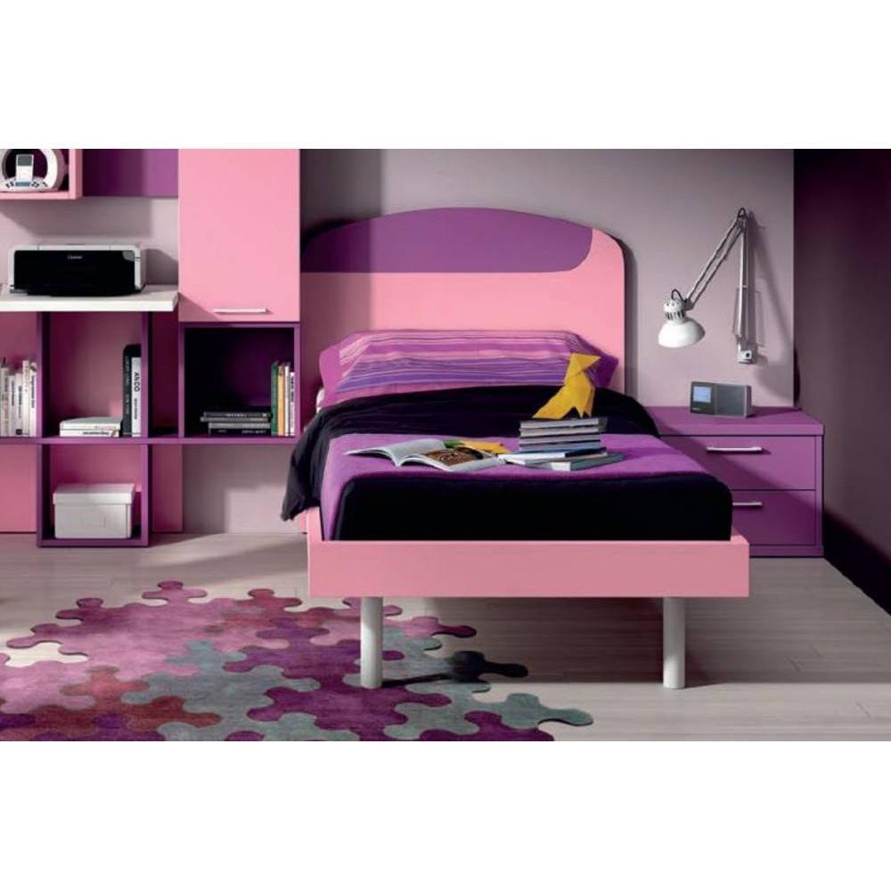 Lits enfant chambre literie lit simple lola couchage 90 x 190 cm inside75 - Lit enfant simple ...