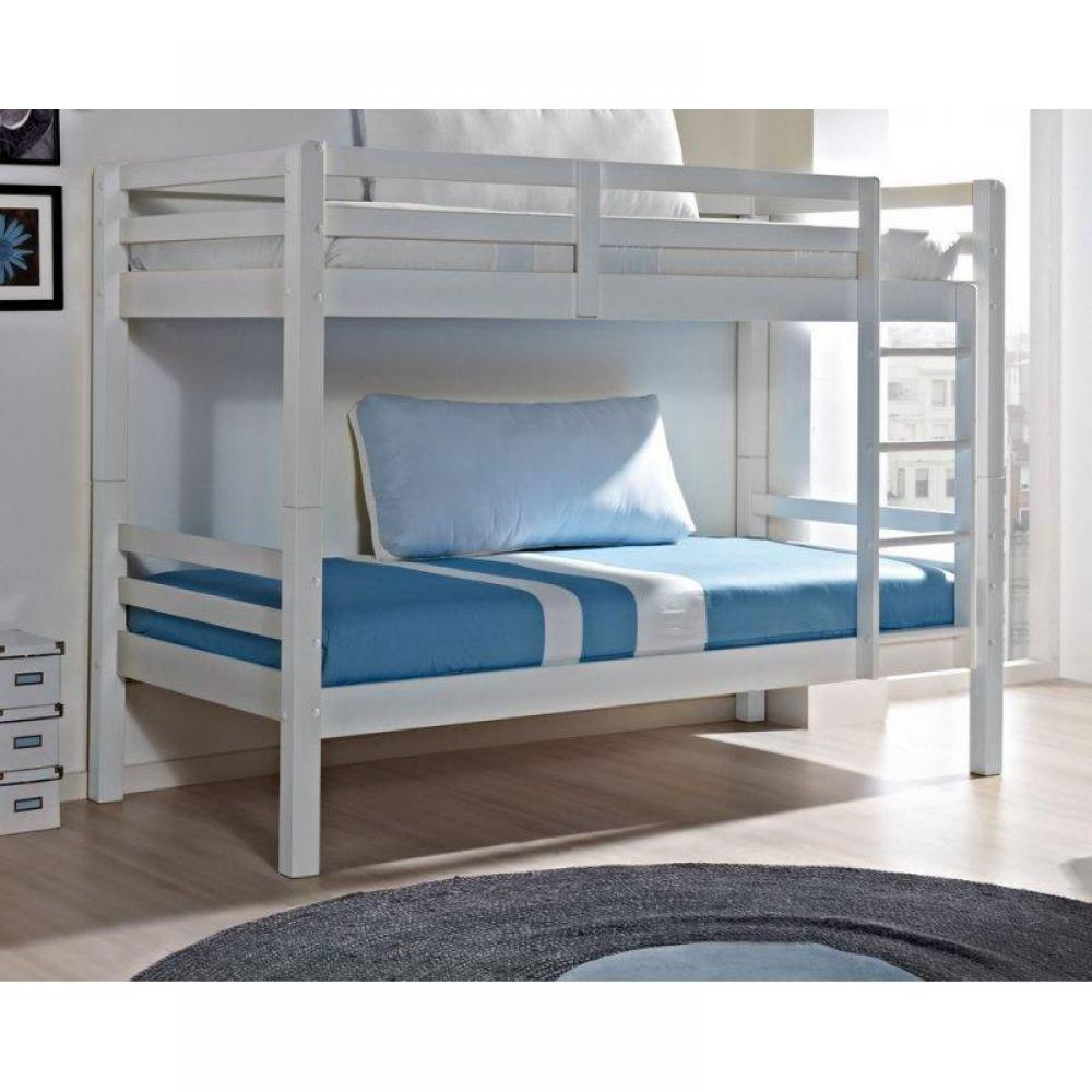 Lits Superposes Chambre Literie Lit Superpose Comete En Pin
