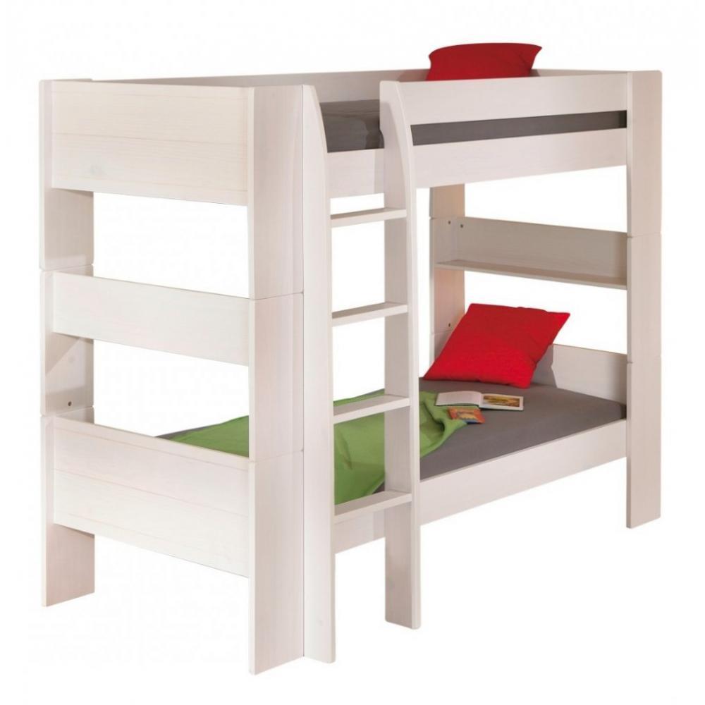 lits chambre literie lit superpos dream well 3 en pin massif couchage 90 x 200 cm inside75. Black Bedroom Furniture Sets. Home Design Ideas