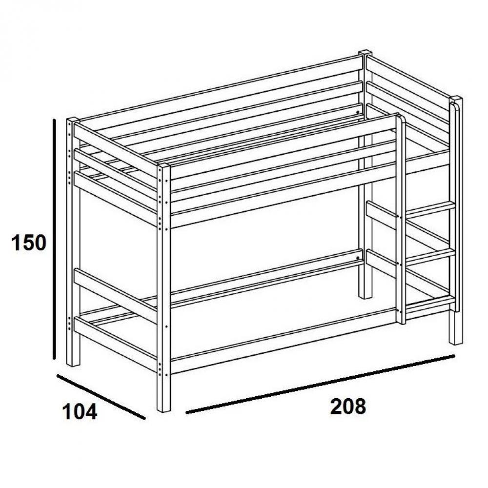 lits superpos s chambre literie lit superpos flexa en pin vernis blanchi couchage 90 x 200. Black Bedroom Furniture Sets. Home Design Ideas