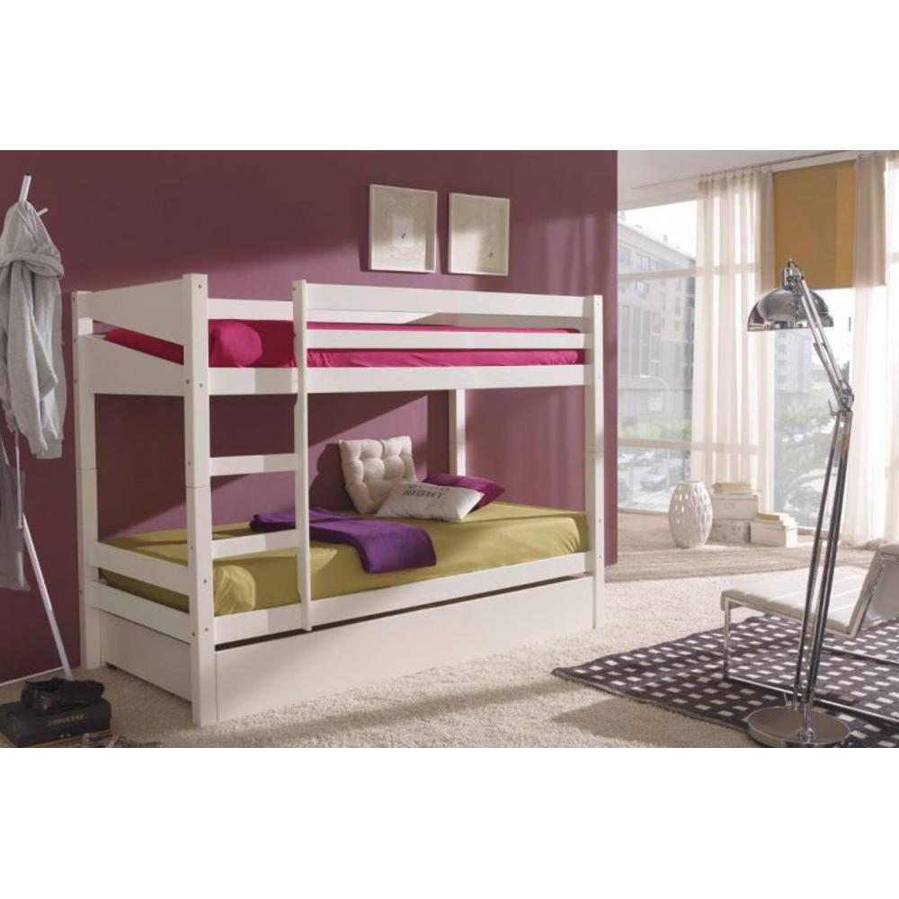 lits chambre literie lit superpos lino en pin massif. Black Bedroom Furniture Sets. Home Design Ideas