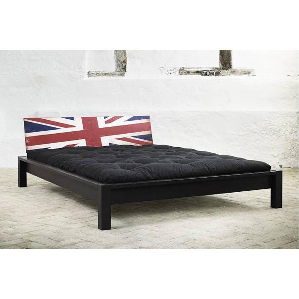lits chambre literie lit tami bed avec t te de lit imprim e london inside75. Black Bedroom Furniture Sets. Home Design Ideas