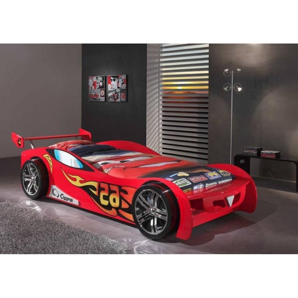 Lits Chambre Literie Lit Voiture BERLINE Design Rouge Inside - Lit design rouge