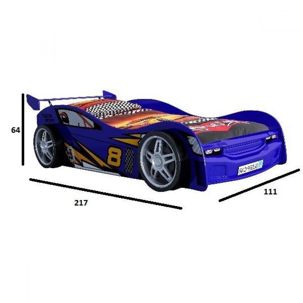 lits chambre literie lit voiture berline night racer design bleu inside75. Black Bedroom Furniture Sets. Home Design Ideas