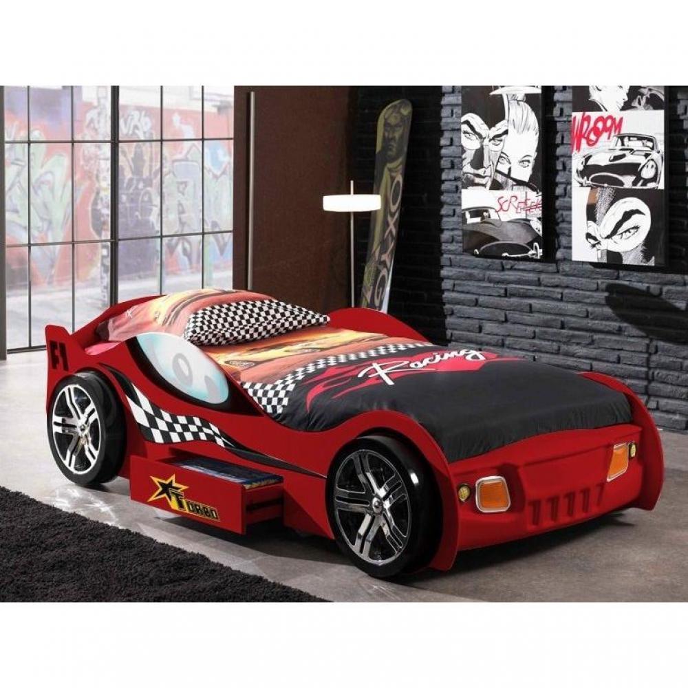 lits chambre literie lit voiture funbeds turbo design rouge 1 tiroir inside75. Black Bedroom Furniture Sets. Home Design Ideas