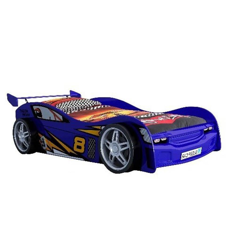 lits chambre literie lit voiture funbeds night racer design bleu inside75. Black Bedroom Furniture Sets. Home Design Ideas
