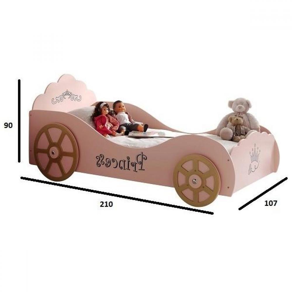 lits enfant chambre literie lit voiture funbeds princess pinky design rose inside75. Black Bedroom Furniture Sets. Home Design Ideas
