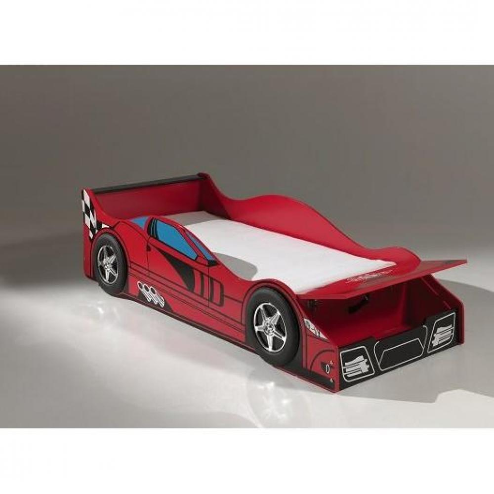 lits enfant chambre literie petit lit voiture funbeds race car design rouge inside75. Black Bedroom Furniture Sets. Home Design Ideas