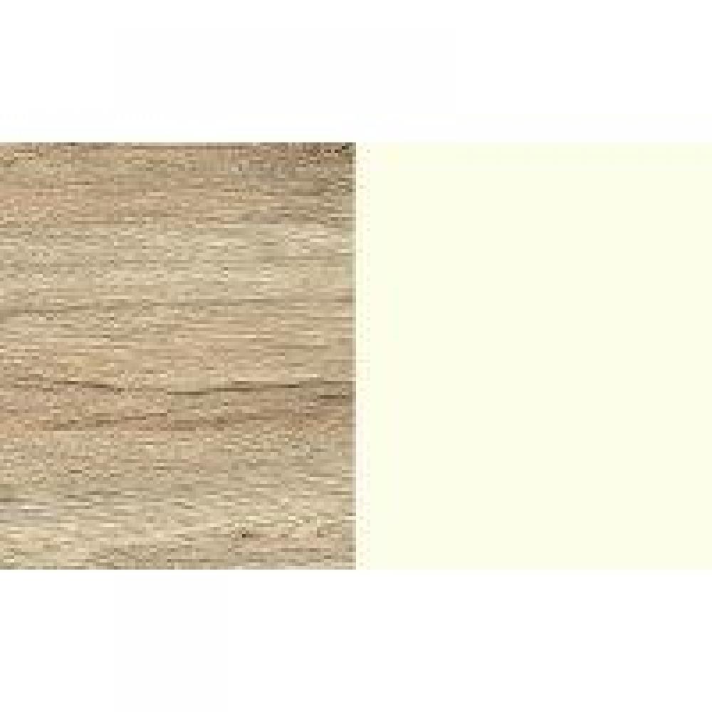 Lit VOLVERINE 120 x 200 cm chêne rechampis blanc