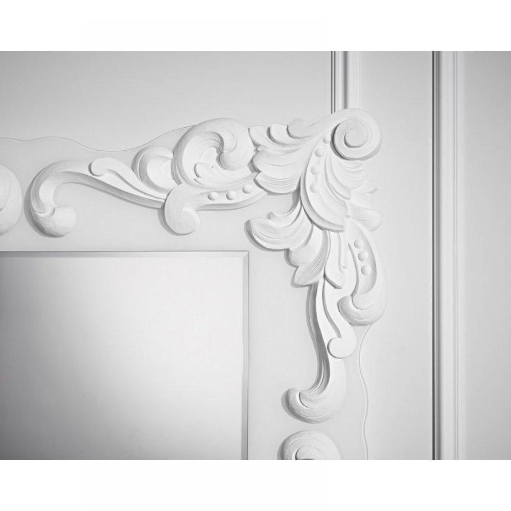 Miroirs meubles et rangements loliane miroir mural for Miroir blanc design