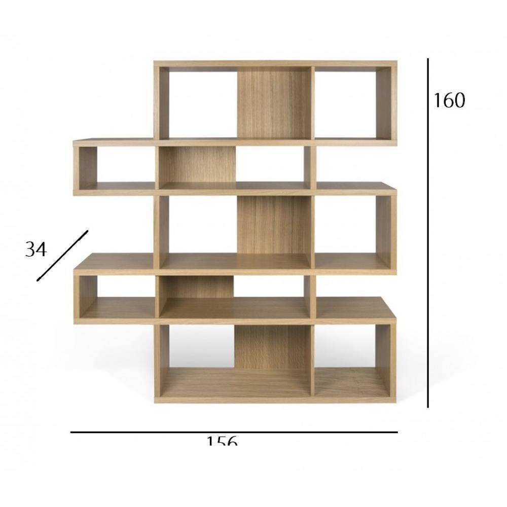 LONDON bibliothèque design 5 niveaux chêne