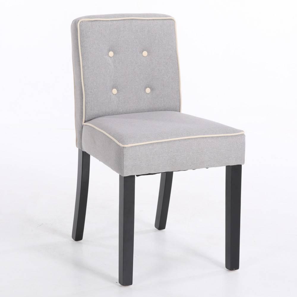 nos lots de chaise design lot de 2 chaises design contemporain charlemagne tissu lin gris clair. Black Bedroom Furniture Sets. Home Design Ideas
