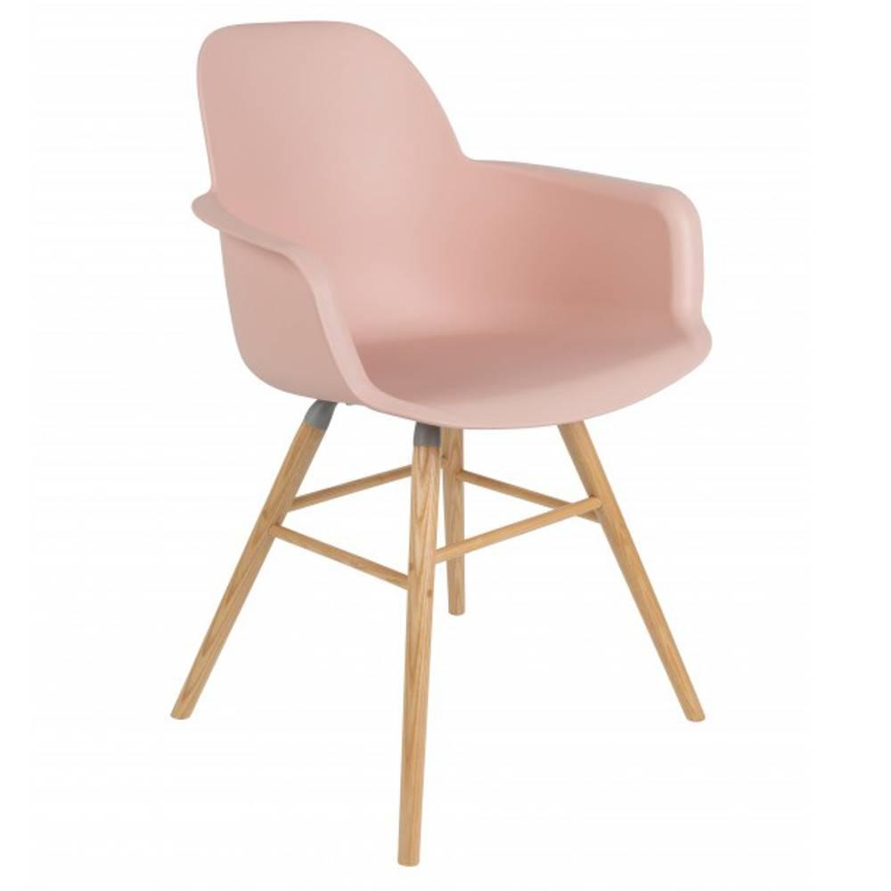 lot de 2 chaises avec accoudoirs design scandinave albert kuip old rose - Chaise Scandinave Rose