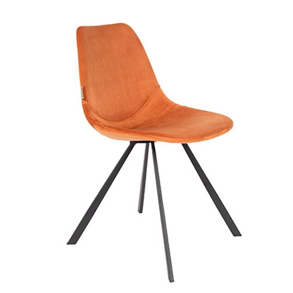 Dutchbone Lot De 2 Chaises FRANKY Velours Orange
