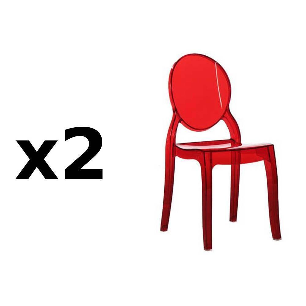 chaise design ergonomique et stylis e au meilleur prix lot de 2 chaises m daillon imp ratrice. Black Bedroom Furniture Sets. Home Design Ideas