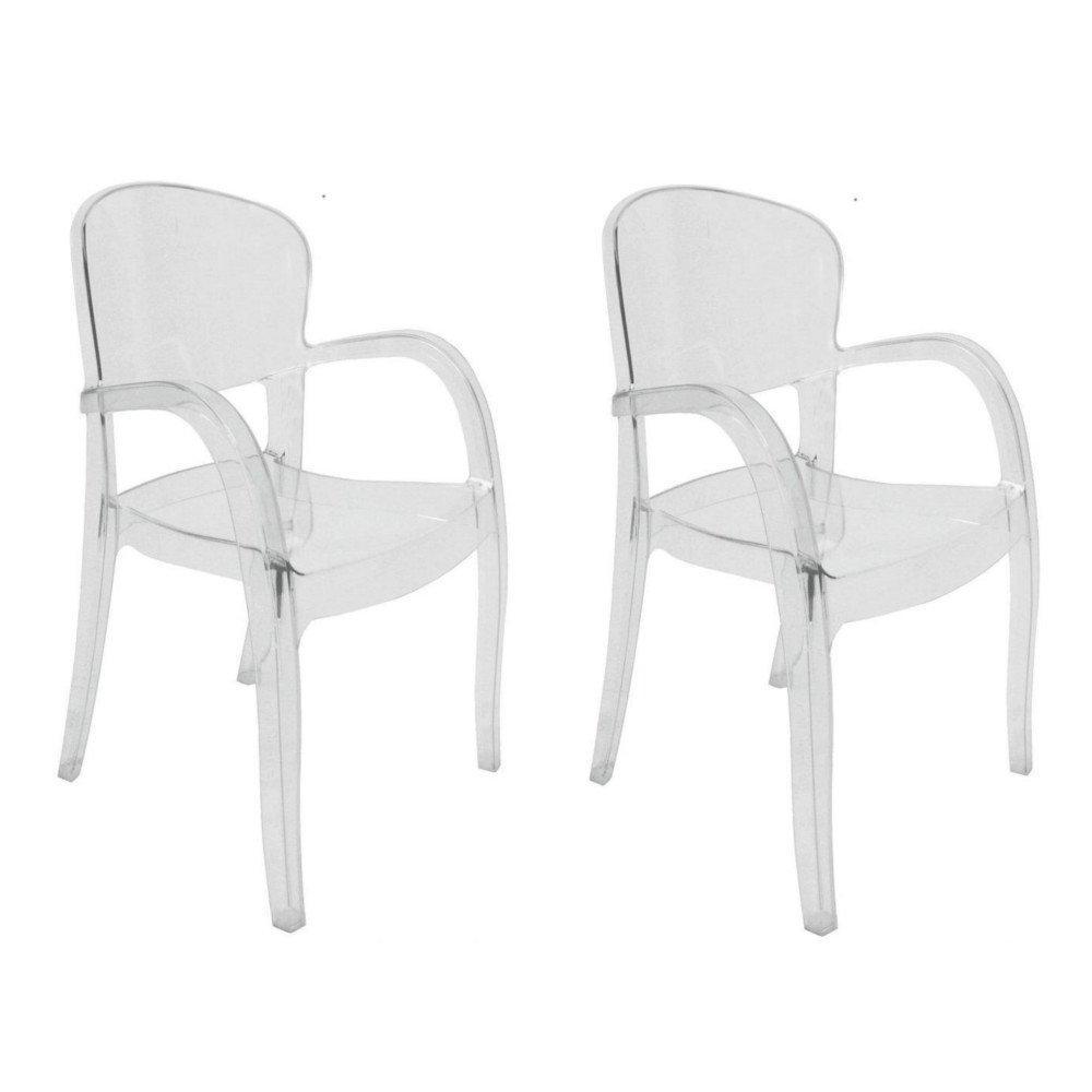 lot de 2 chaises joker design transparente - Chaise Design Transparente