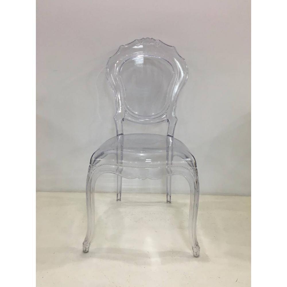 Lot De 2 Chaises Design NAPOLEON En Polycarbonate Transparent