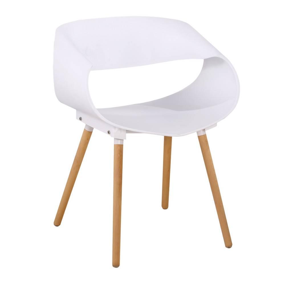 lot de 2 chaises design scandinave orbital blanche mat pitement chne clair - Chaise Scandinave Design