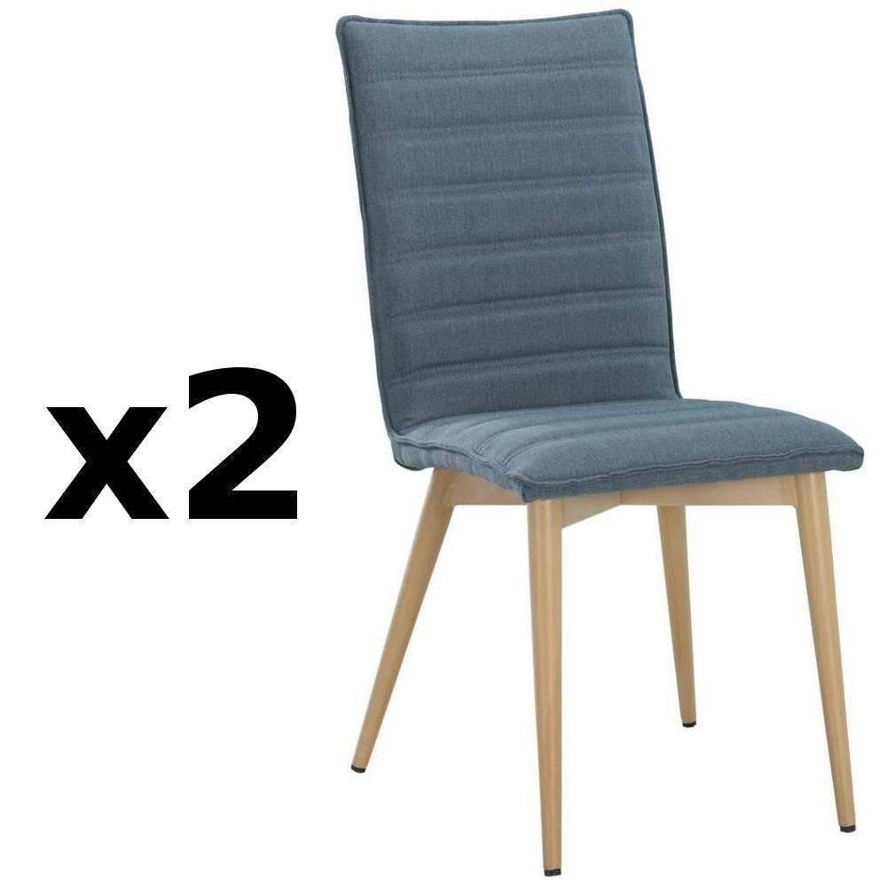 nos lots de chaise design lot de 2 chaises design scandinave utgard tissu bleu inside75. Black Bedroom Furniture Sets. Home Design Ideas