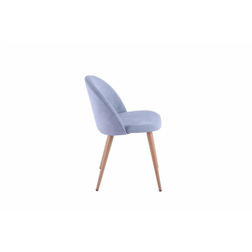 nos lots de chaise design lot de 2 chaises design scandinave velvet tissu bleu clair inside75. Black Bedroom Furniture Sets. Home Design Ideas