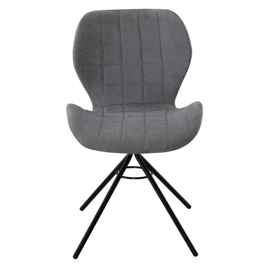 Lot De 2 Chaises Design STORM Tissu Gris Clair