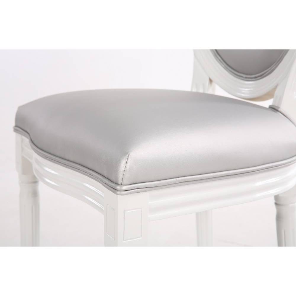 Lot de 2 chaises médaillon VERSAILLES style louis XVI polyuréthane gris