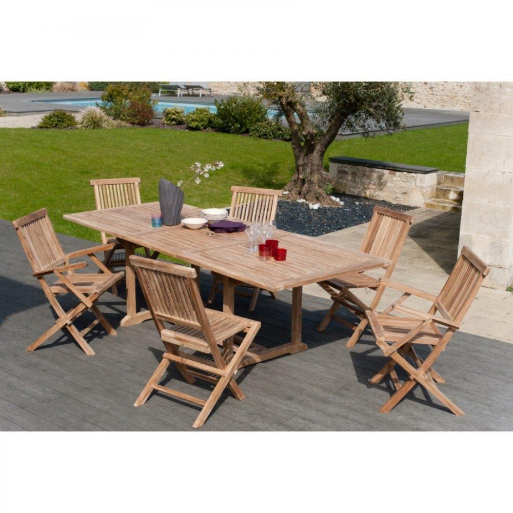 Fauteuil de jardin design et confortable au meilleur prix lot de 2 fauteuils de jardin java en - Table jardin teck massif fort de france ...