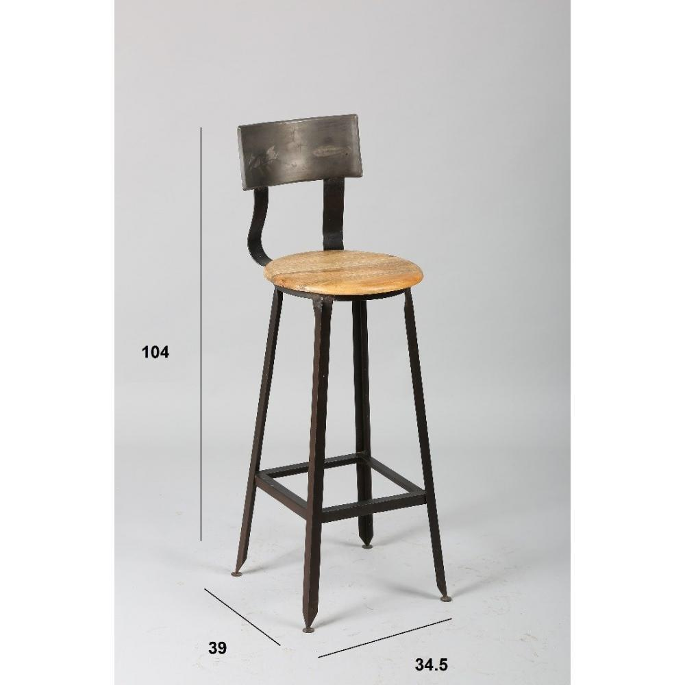 chaise de bar design tendance r tro au meilleur prix lot de 4 chaises de bar olympe en acier. Black Bedroom Furniture Sets. Home Design Ideas