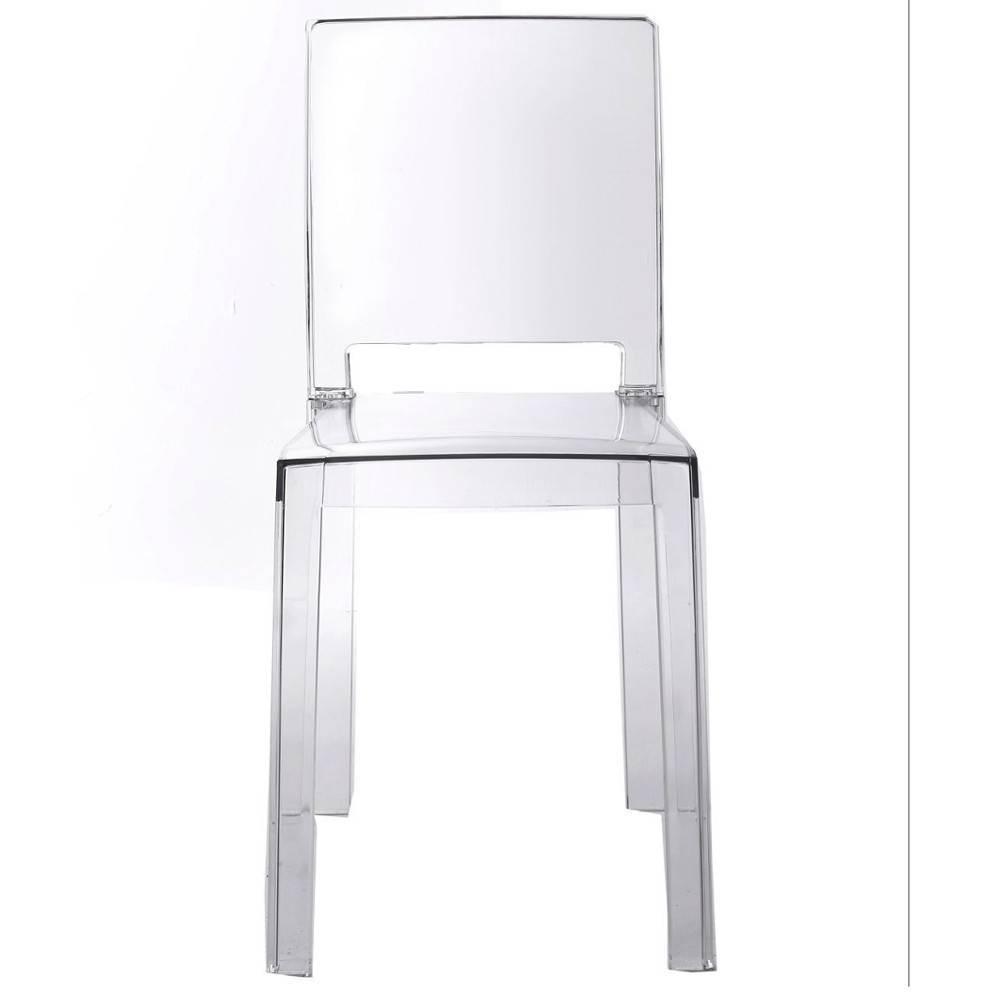 Lot De 4 Chaises Design FUTURA En Polycarbonate Transparent