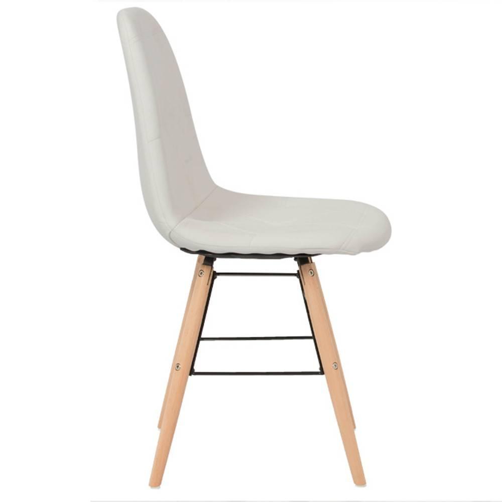 nos lots de chaise design lot de 4 chaises design scandinave henry simili pupu blanc inside75. Black Bedroom Furniture Sets. Home Design Ideas