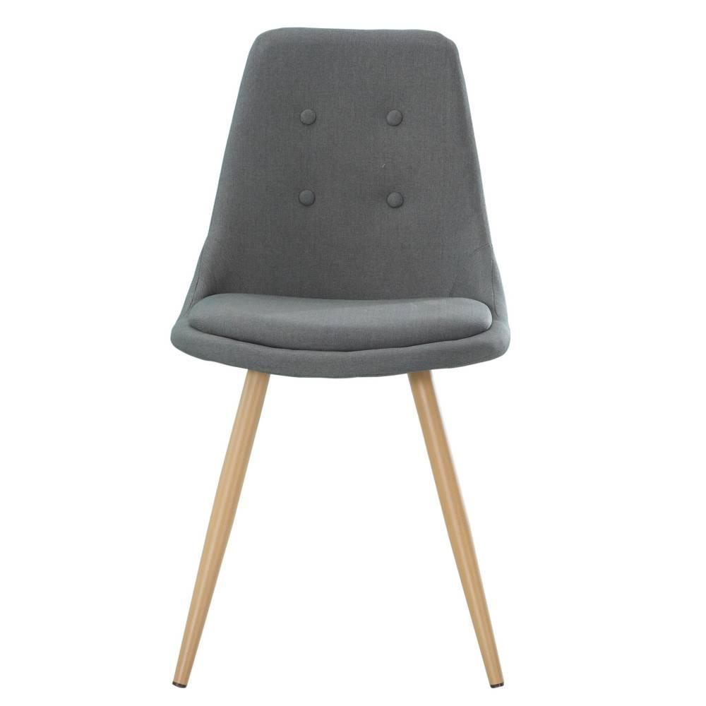 nos lots de chaise design lot de 4 chaises design scandinave midgard tissu gris graphite inside75. Black Bedroom Furniture Sets. Home Design Ideas