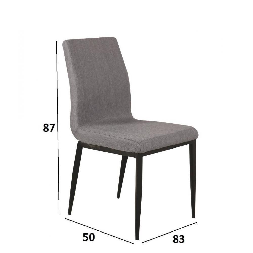 chaise design ergonomique et stylis e au meilleur prix lot de 4 chaises vip design tissu gris. Black Bedroom Furniture Sets. Home Design Ideas