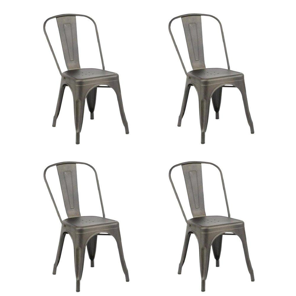 Lot De 4 Chaises Design BISTRO INDUS