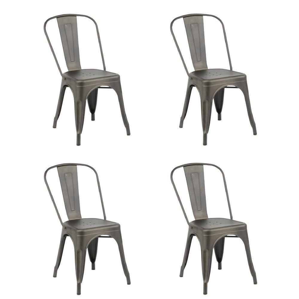 Lot De 4 Chaises Design BISTRO INDUS