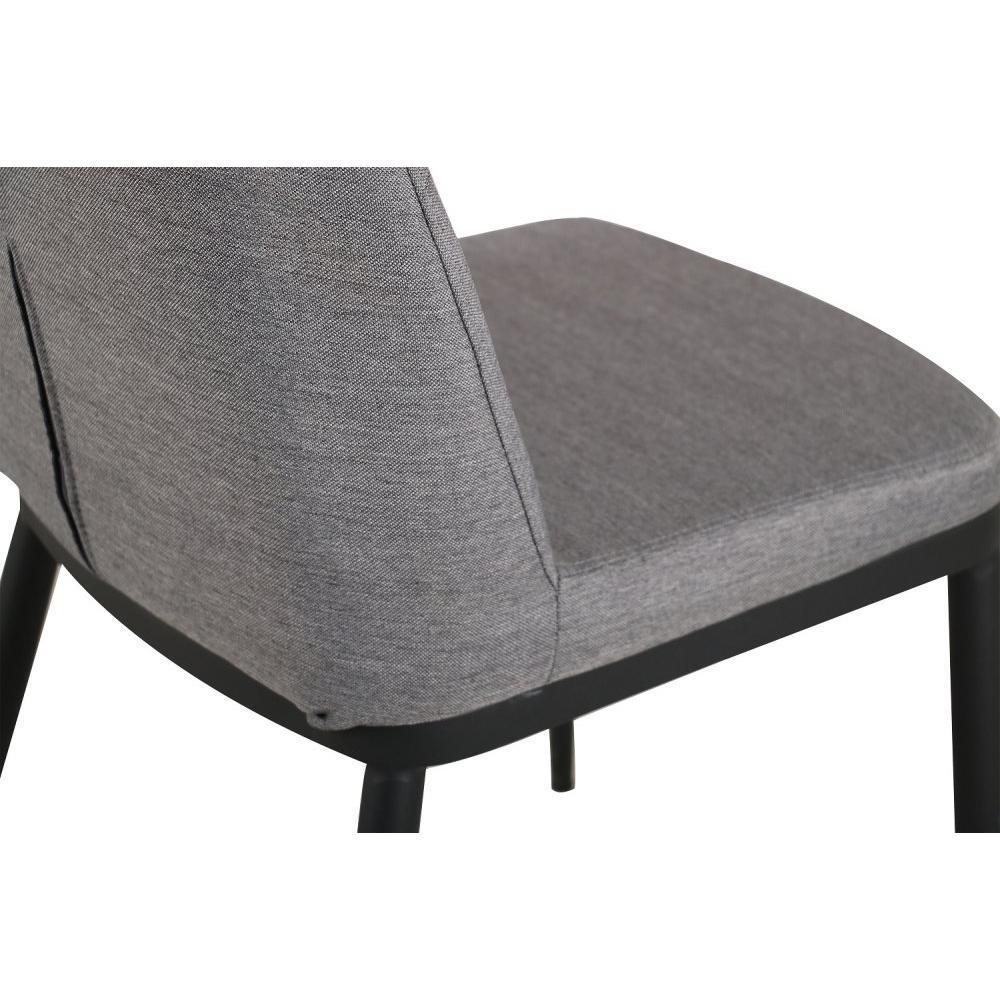 Lot de chaise au meilleur prix lot de 6 chaises links design tissu gris clai - Lot de 6 chaises grises ...