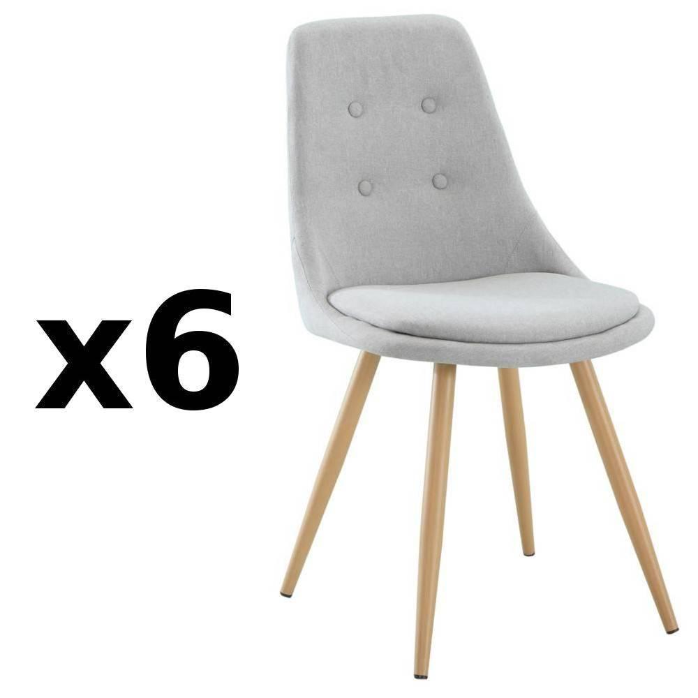 chaise design ergonomique et stylis e au meilleur prix lot de 6 chaises design scandinave. Black Bedroom Furniture Sets. Home Design Ideas