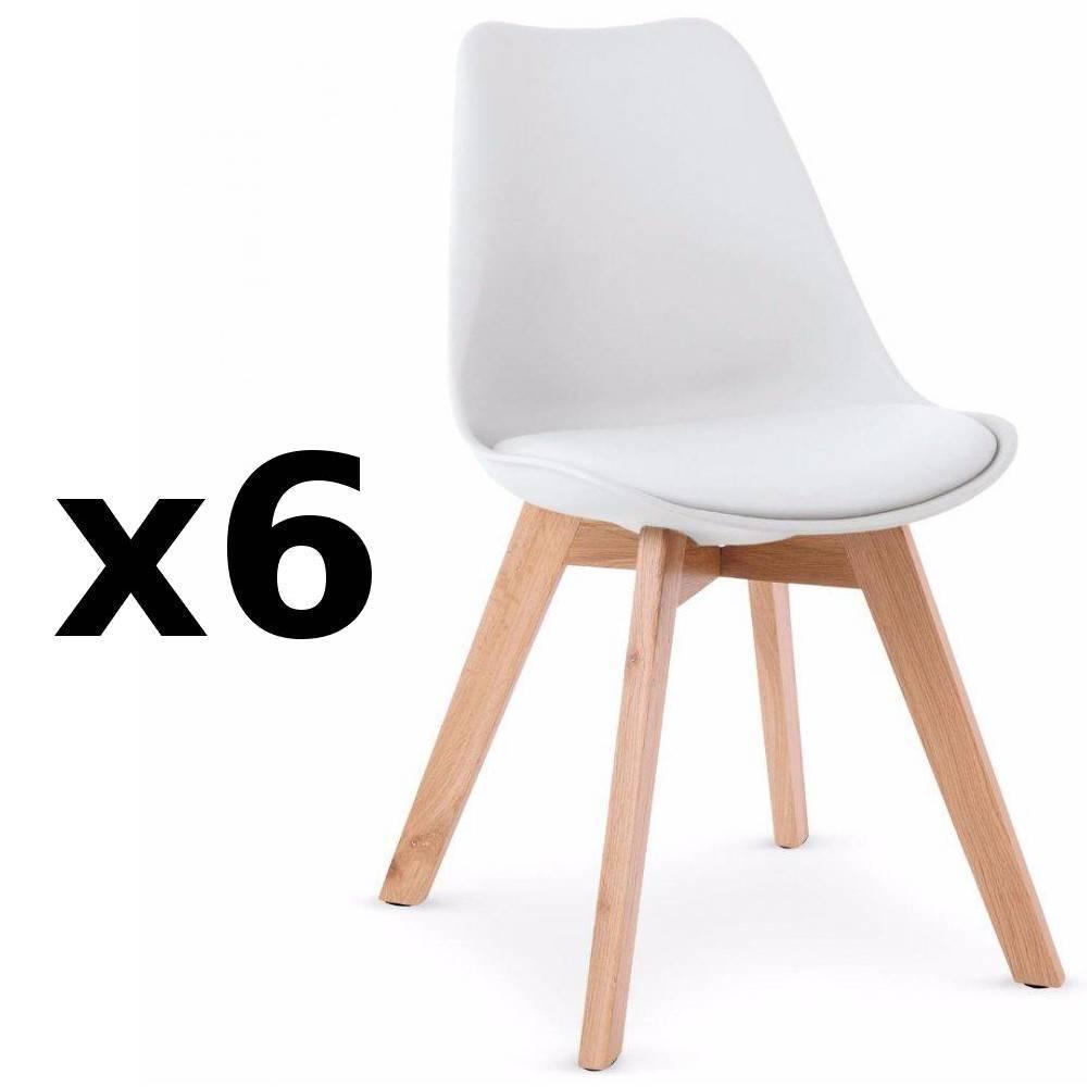 Chaise design ergonomique et stylis e au meilleur prix chaise oslo design sc - Lot 6 chaises blanches ...