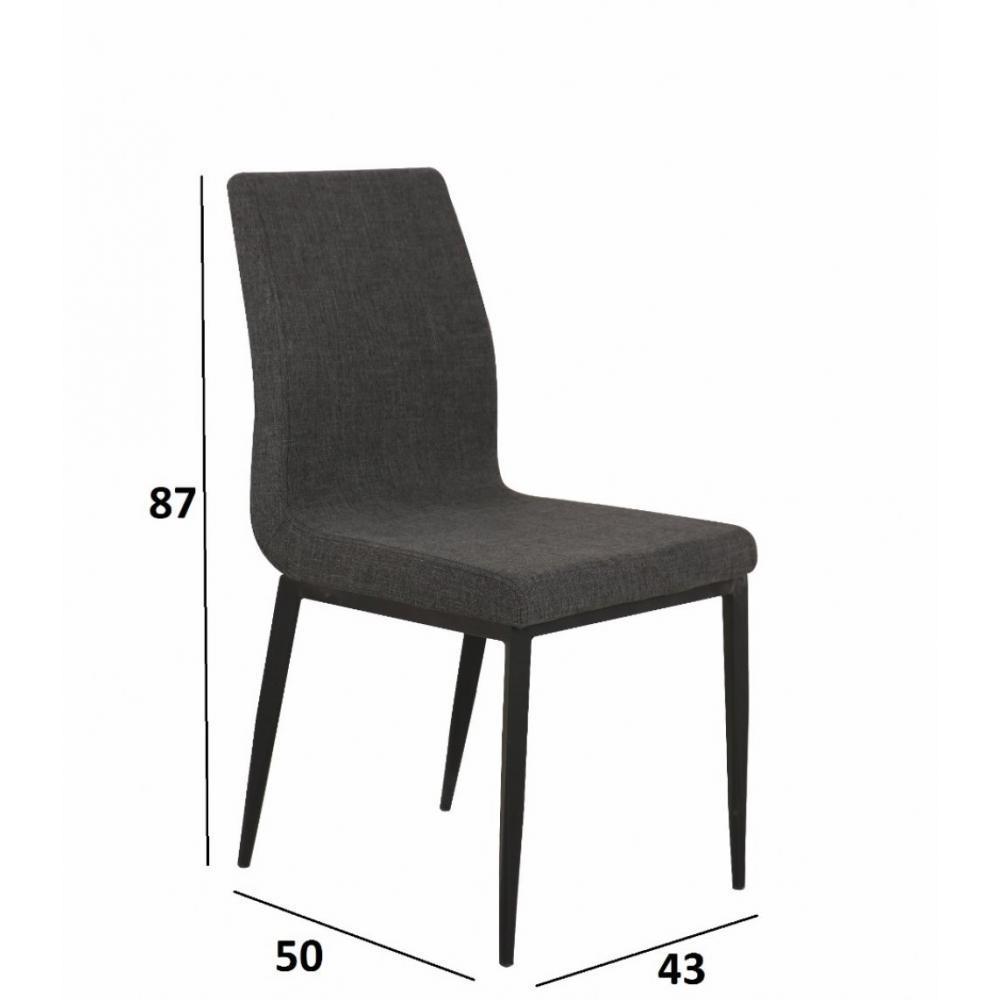chaise design ergonomique et stylis e au meilleur prix lot de 6 chaises vip design tissu. Black Bedroom Furniture Sets. Home Design Ideas