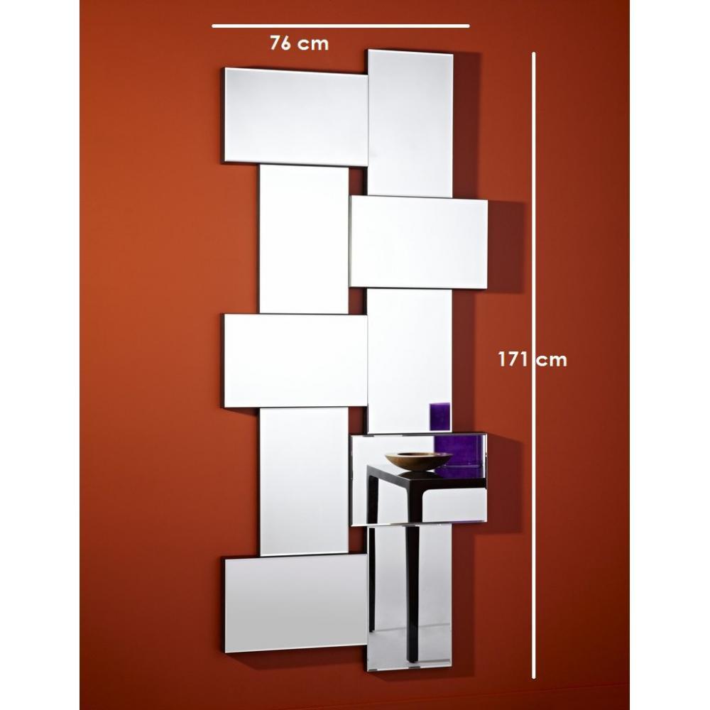 Miroirs meubles et rangements louxor miroir mural design for Meuble mural en verre