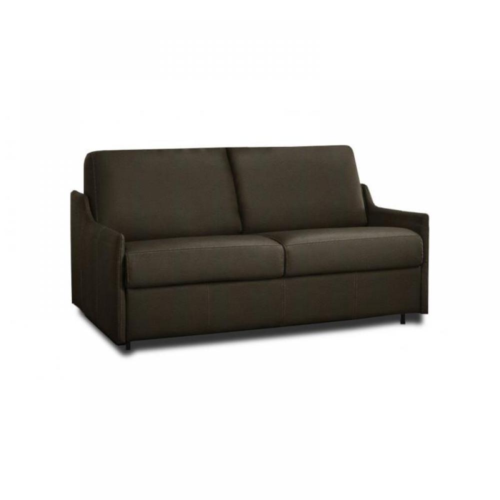 LUNA divano sistema letto RAPIDO 120*197*14 cm bracci ultra sottili pelle o tessuto