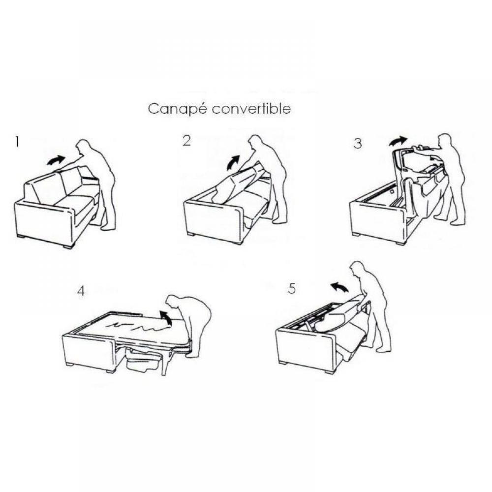 Canapé LUNA convertible rapido Couchage quotidien 160*197*16cm