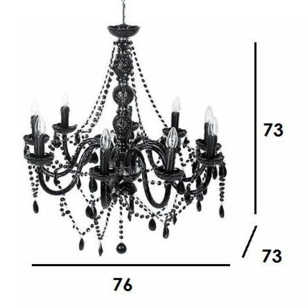 lustres luminaires lustre baroque noir 9 bras inside75. Black Bedroom Furniture Sets. Home Design Ideas
