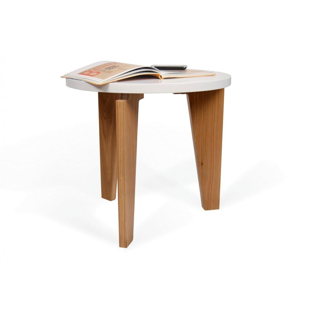 Table basse carr e ronde ou rectangulaire au meilleur prix temahome lot de - Tables basses blanches ...