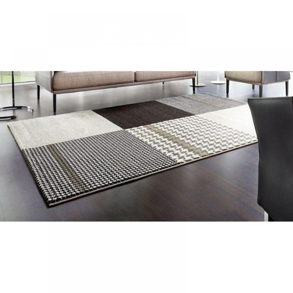 tapis de sol meubles et rangements maison tapis patchwork marron taupe 120x180 cm inside75. Black Bedroom Furniture Sets. Home Design Ideas